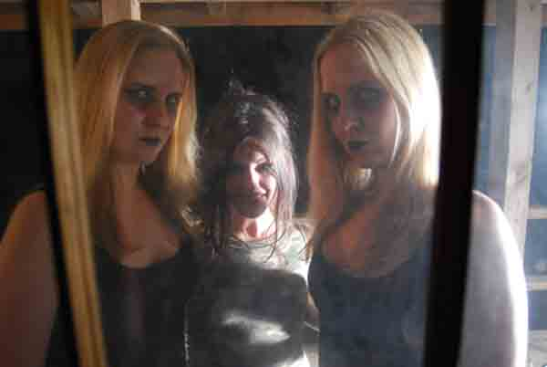 NIKKI MAgGOT on set with the ghost twins