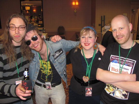 magGot, Nate, Allana Sleeth and Skeeter rock Cinema Wasteland...